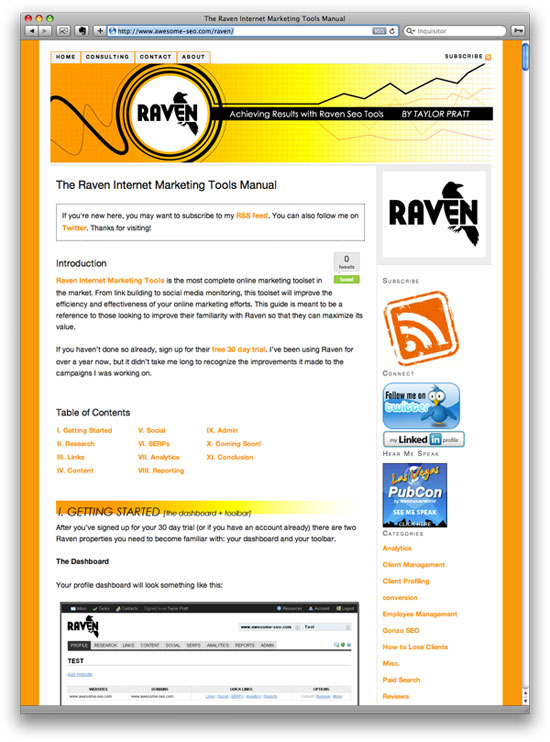 Raven Internet Marketing Tools Manual