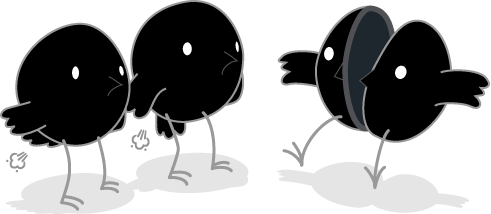 Songbird Mascots Gassy While Their Friend Splits
