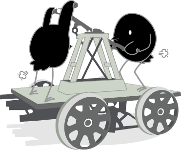Songbird Mascot Gassy While On A Handcar