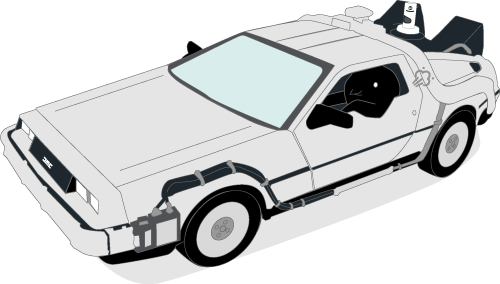Songbird Mascot Gassy In A Delorean